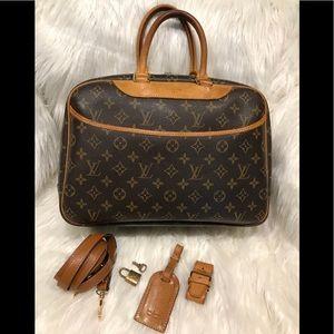 Louis Vuitton Deauville Bag **With Shoulder Strap